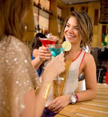 A Photos Having Drinks Girl Friends Beautiful Bar Freestock At