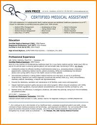 Example Of Medical Assistant Resume Unique Medical Assistant Resume Objective Domosens Tk Skills Sample Sevte