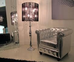 floor lamps chandelier floor lamp contemporary modern crystal chandelier floor lamp black black shade crystal
