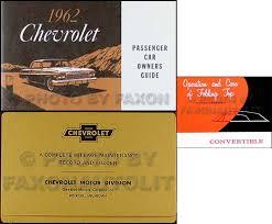 1962 chevy wiring diagram manual reprint impala ss bel air biscayne 1962 chevy impala convertible owner s manual set