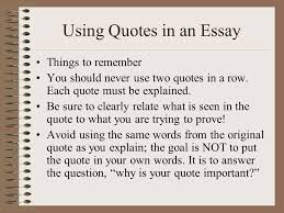 argumentative literary analysis the count of monte cristo ppt using quotes in an essay things to remember you should never use two quotes in a