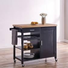 Kitchen island table with storage Modern Kitchen Shop Belleze Wood Top Multistorage Cabinet Rolling Kitchen Island Table Cart With Wheels Black Free Shipping Today Overstockcom 26413286 Aelysinteriorcom Shop Belleze Wood Top Multistorage Cabinet Rolling Kitchen Island