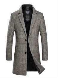 TIMEMEANS Coats Jackets for <b>Men</b> Autumn and Winter Medium ...