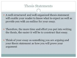 choosing a topic and drafting a thesis ppt video online  2 thesis statements a well structured