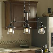 lighting for kitchen island. allen roth bristow 36in w 3light mission bronze kitchen island light lighting for e