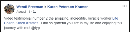 Testimonials - Dr Karen Kramer NLP Master Coach