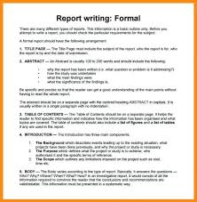 Formal Report Format Template Formal Report Format Template Free For