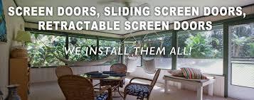 screen pro of hawaii offers quality screening solutions including window screens screen doors sliding screen doors retractable screen doors and