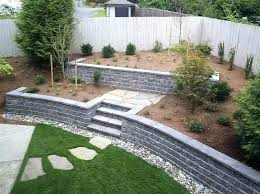 cinder block wall ideas concrete retaining wall ideas walls cinder block retaining wall concrete retaining wall