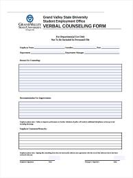 Employee Counseling Form Employee Counseling Form Verbal Achievable Concept Frazierstatue 3