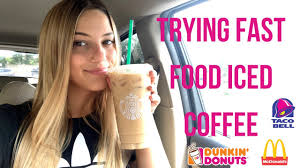 © 2020 by taco bell corp. Trying Iced Coffee From Fast Food Restaurants Youtube