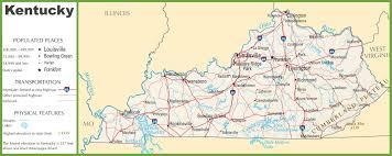 kentucky state maps  usa  maps of kentucky (ky)