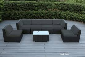 Gray Wicker Resin Patio Furniture  Home Outdoor DecorationBlack Outdoor Wicker Furniture