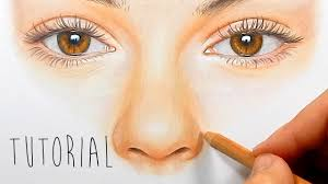 Drawingcolor Tutorial How To Draw Color A Realistic Nose With Colored