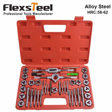 Heavy Duty Professional 20pc Tap And Die Set High <b>Carbon Steel</b> ...