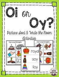 Oi Oy Anchor Chart Oi Oy Diphthong Sort Write The Room Vocabulary Cards