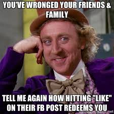 You've wronged your friends & Family Tell me again how hitting ... via Relatably.com