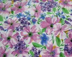 Joann Fabrics Patterns Extraordinary Fc48 JOAnn Collection Purple Floral Pattern Texitle Cloth Cotton