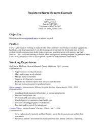 Resume Sample For Registered Nurse Tomyumtumweb Com