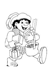 Zwarte Piet Kleurplaat Gezicht Sankt Nikolaus Malvorlagen