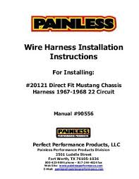 fitting instructions for nissan t31 x trail towbar wiring harness wire harness installation instructions painless wiring
