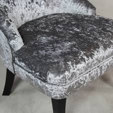 Silver Bedroom Chair Vogue Silver Velvet Bedroom Chair With Black Legs