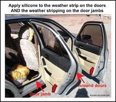 car door jamb. Apply Lubricant To Door Weather Stripping And Jambs Car Jamb