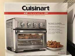 convection toaster oven air fryer with light silver cuisinart toa 60