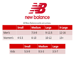 New Balance Size Chart Kid Details About New Balance Lace Up For The Cure Over The Calf Sock