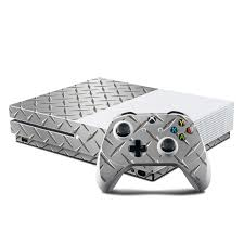 Microsoft Xbox One S Console And Controller Kit Skin Diamond Plate