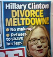 image of hillary clinton wearing gles next to text reading hillary clinton divorce meltdown