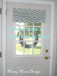 front door window coverhomey home design A No Strings Roman Blind