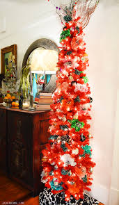 Paper Flower Christmas Tree Boho Red Christmas Tree Treetopia Jaderbomb