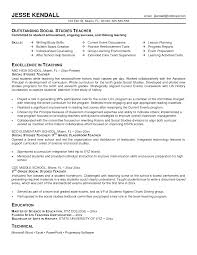 Gallery Of Teacher Resume Objective Sample Best Collection Middle