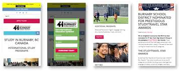 Web Design Burnaby School District Web Design Development Custom Fit Online