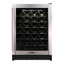 w 50 bottle wine cooler in stainless steel