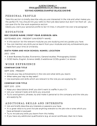 How To Write Curriculum Vitae New CV Example StudentJob UK
