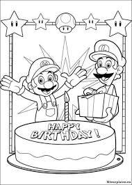 Super Mario Bros Kleurplaat Mario Brothers Party Super Mario
