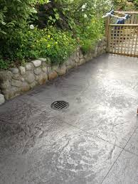stained stamped concrete patio. Stamped Concrete Patio Stained