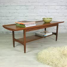 vintage teak furniture. Vintage Teak Coffee Table With Shelf Furniture