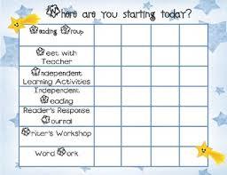 Daily Menu Chart Daily Balanced Literacy Must Do Menu Rotation Chart Star Theme