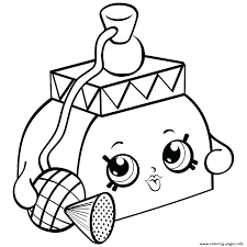Shopkin Coloring Pages Coloring For Babies Amvame