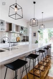 Hanging Lights Over Kitchen Bench Long Island With Sink Modern Kitchen Design Kitchen
