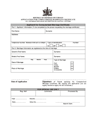 Trinidad Marriage Certificate Fill Online Printable Fillable