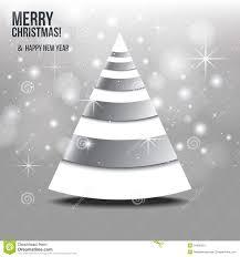 Grey Christmas Tree Christmas Card With Abstract Christmas Tree Stock Image Image