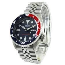 seiko skx009j skx009j2 pepsi japan stainless steel mens automatic divers watch