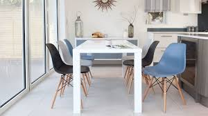 eames dining chair. Eames Chairs And White Gloss 6 Seater Dining Set Danetti UK Inside Chair Remodel 12 L