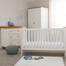 white furniture nursery. Kiddicare Olivia Nursery Furniture Cot Bed Roomset Antique White And Oak T