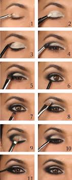 easy step by step makeup tutorial silver smokey eye