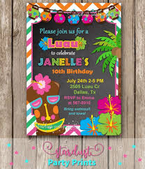 Luau Party Invitations Backman Design